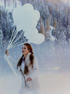 serene| white balloons