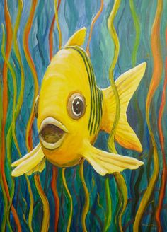 Fisch Acryl You are in the right place about Sealife doodles Here we offer you the most beautiful pictures about the Sealife mural you are looking for. When you examine the Fi Animal Paintings, Animal Drawings, Fish Paintings, Underwater Painting, Sea Life Art, Summer Painting, Fish Art, Acrylic Art, Rock Art