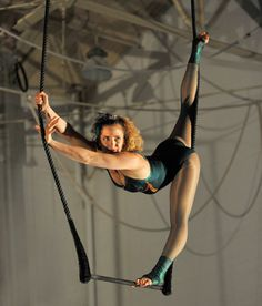 Cable splits on static trapeze #aerial