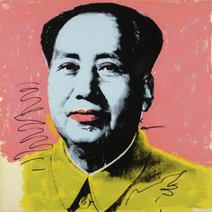 Warhol's mass reproduction of Markist Chairman Mao (1972)