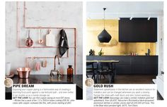 Copper and Gold accents