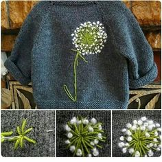 Knitting and crochet Embroidery Art, Cross Stitch Embroidery, Embroidery Patterns, Knitting Patterns, Sewing Patterns, Crochet Patterns, Embroidery Fashion, Sewing Hacks, Sewing Crafts