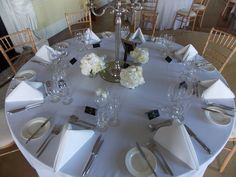 The Van Stry ballroom in Luttrellstown Castle Resort is ready to serve it's 120 wedding guests