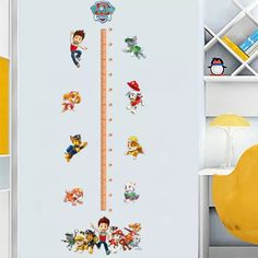 Paw Patrol Height Chart Wall Sticker – the treasure thrift Wall Stickers, Vinyl Decals, Wall Decals, Paw Patrol Bedroom, Height Chart, Art Wall Kids, Wall Art, Cool Rooms, Interior Walls