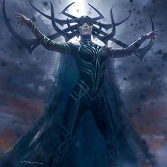 Thor: Ragnarok Concept Art and Illustrations by Andy Park Marvel Dc, Marvel Hela, Films Marvel, Marvel Villains, Marvel Heroes, Thor Ragnarok Concept Art, Thor Ragnarok Hela, Hela Thor, Marvel Concept Art