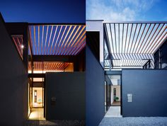 Apollo Architects & Associates' modern Pergola House in Japan unifies its indoor and outdoor space with a slatted trellis roof. Floor To Ceiling Windows, Ceiling Beams, Timber Beams, Modern Pergola, Construction Cost, Courtyard House, House Inside, Ground Floor, Trellis