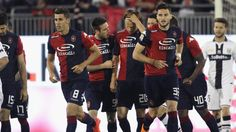 Albin Ekdal of Cagliari celebrated with the team mates the goal 1-0 during the Serie A match between Cagliari Calcio and Parma FC at Stadio Sant'Elia on May 4, 2015 in Cagliari, Italy. (Photo by Enrico Locci/Getty Images)