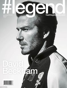 Profile piece: The second cover is a close-up of Beckham's side profile, showing off his chiseled jawline