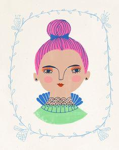 Magenta Topknot by Sarah Walsh