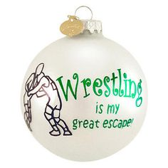 Wrestling Christmas ornament | sports gifts | Pinterest