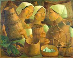 Anita Magsaysay-Ho Filipino painter who was the only female member of the Thirteen Moderns, a standing group of Filipino modernist artists Arte Latina, Filipino Art, Philippine Art, New Artists, Asian Art, Female Art, Art Drawings, Contemporary Art, Art Gallery