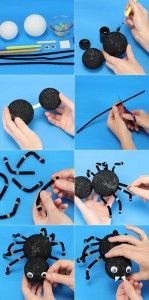 Make beautiful spider at home