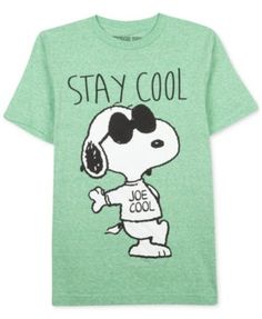size 8 Peanuts Boys' Short Sleeve Snoopy Stay Cool T-Shirt