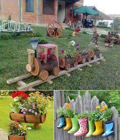 5 Cool Planter Ideas for Your Garden to Welcome Spring - http://www.amazinginteriordesign.com/5-creative-planter-ideas-garden-welcome-spring/