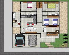 Casa pequena com dimensões precisas e práticas!