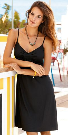 #Lidea 2014 Long Black Dress #CoverUp 3062-292-006 #southbeachswimsuits