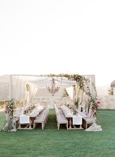La Tavola Fine Linen Rental: Tuscany White Table Runners with Tuscany Natural Napkins   Photography: Jose Villa Photography, Event Planning & Design: Joy Proctor Design, Floral Design: Amy Osaba, Vintage Furniture & Decor: Barn Relic, Tables, Chairs & Chandeliers: Revelry Event Designers, Lanterns & Votives: Theoni Collection