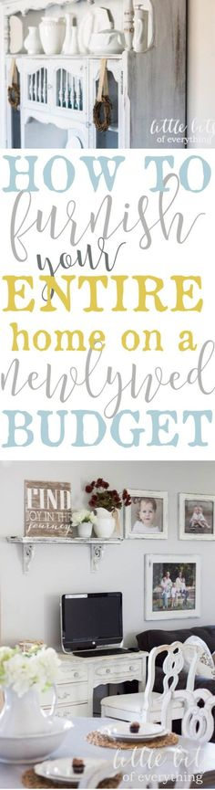 cool How to Furnish your Entire House on a Newlywed Budget