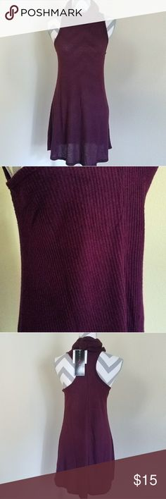 """NWT Cowl Neck Sweater Dress💜👗 💕NWT! Deep plum/wine (color in pics exact)  💕Size small, knit and ribbed/fitted 💕Shoulder to bottom=31.5"""" armpit across=18"""" 💕Bought for $30 @ Styles 4 Less (not BM) Feel free to ask any questions, price firm at $15 unless bundled! 📍Smoke-Free Home👍 Brandy Melville Dresses Mini"""