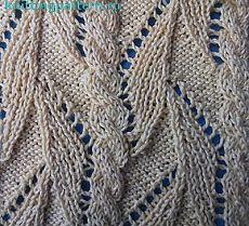 Узоры для вязания на спицах Тропическая лиана