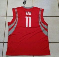 NWT ADIDAS Houston Rockets Yao Ming NBA Jersey Men's XL