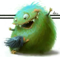 The Exhibition of Character & Illustration by Marco Bucci / Canada :: munsterhug Little Monsters, Green Monsters, Cute Monsters, Storyboard, Art Beauté, Character Art, Character Design, Monster Art, Happy Monster
