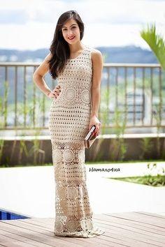 Crochetemoda Blog: Vestido Longo de Crochet