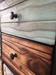 Kallax hack with Shou Sugi Ban style pine doors, drawers & cladding Ikea Kallax Shelving, Kallax Hack, Pallet Furniture, Furniture Ideas, Pine Doors, Headboards, Cladding, Bamboo Cutting Board, Beds