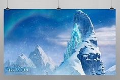 Frozen Winter Ice Castle Birthday Party Backdrop Photo Booth Banner 4ft x6.5ft