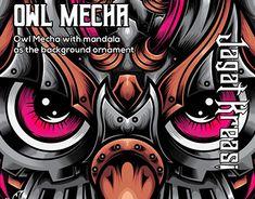 Owl Illustration, Graphic Design Illustration, New Work, Adobe Illustrator, Mandala, Doodles, Behance, Symbols, Profile