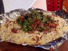 Black-Eyed Pea Risotto with Bacon and Southern Greens recipe from Guy Fieri via Food Network