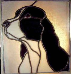 stained glass springer spaniel - Google Search