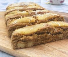 Wheat free apple and cinnamon oat loaf