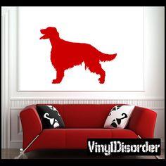 irish setter Dog Wall Decal - Vinyl Decal - Car Decal