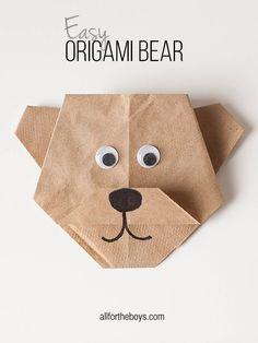 Easy Origami Bear + Disneynature's BEARS printables