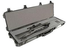 Long Hard Gun Case 1750 Pelican Foam Rifle Black Waterproof Watertight Travel  #Pelican