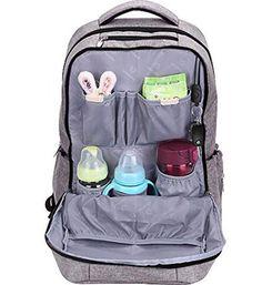 Amazon.com: Leke Diaper Bags (Grey): Baby.  backpack diaper bag back pack