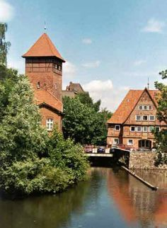 A view to the old watertower in Lüneburg, Germany.