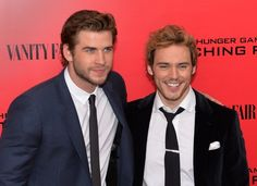 When Finnick and Gale hung out on the red carpet and had a good time together. | Community Post: 18 Times Sam Claflin Proved He Was The Most Adorable Person Ever