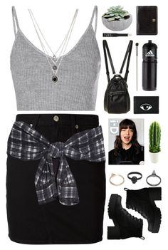 """Untitled #465"" by amy-lopezx ❤ liked on Polyvore featuring Glamorous, rag & bone/JEAN, 3.1 Phillip Lim, Lipstik, Forever 21, Chanel, NARS Cosmetics, Gathering Eye, adidas and Cath Kidston"