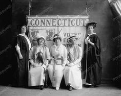 Connecticut Votes For Women Vintage Suffragette 8x10 Reprint Of Old Photo