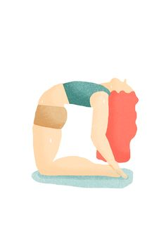 Hot Yoga Illustration by @bethanywalrond