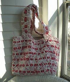 crochet pattern - recycled plastic bag plarn grocery / beach bag