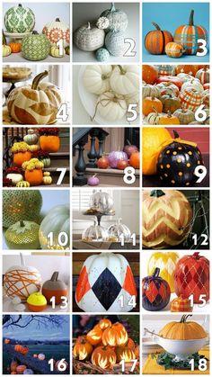Autumnal no carve pumpkin ideas
