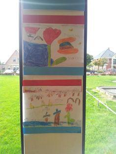 Typisch hollands tekening en rood wit blauw