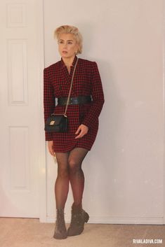 Very Easy Houndstooth Jacket Outfit // Vogue V9133 - Riva la Diva Fashion Games, Fashion Outfits, Houndstooth Jacket, Blazer Outfits, Get Dressed, Autumn Winter Fashion, Versace, Diva, Vogue