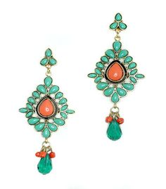 Classicly inspired, simply stunning.  Introducing the Vintage Chandelier-Styled Turquoise & Coral earrings from CrushCrush Couture. Help us help others; 25% of each CCC purchase is donated to a charity of your choice! Jewelry + Passion for a Better World.