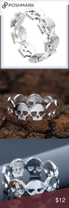 """""""Ring of Skulls"""" ring ➖SIZE: 8 : this is an unique ring that is made up entirely of skull designs.  Entropy Jewelry Rings"""