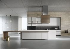 Designed by architect Michele Marcon, Look is a luxury modern kitchen with a timeless appeal. Beton Design, Küchen Design, House Design, Interior Design, Luxury Kitchen Design, Luxury Kitchens, Modern Kitchens, Fitted Kitchens, Kitchen Cabinet Design