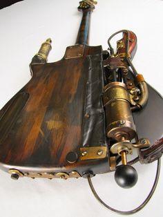 guitar back // steampunk